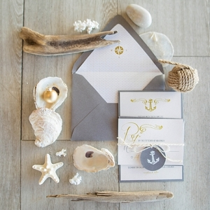 Nautical Christmas wedding stationery