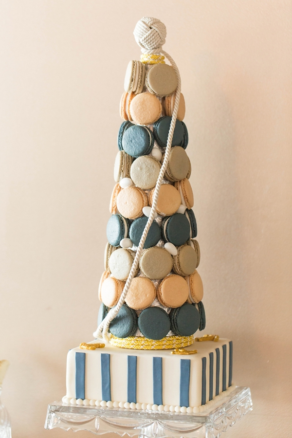 Nautical Christmas macaron tree