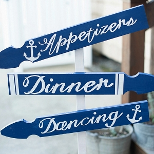 Nautical wedding sign with anchors
