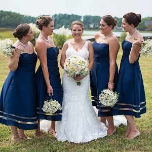 Nautical bridesmaid dresses