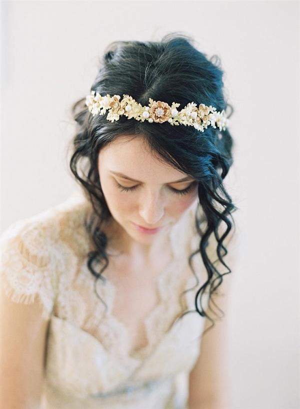 Woodland Gold Bridal Headpiece