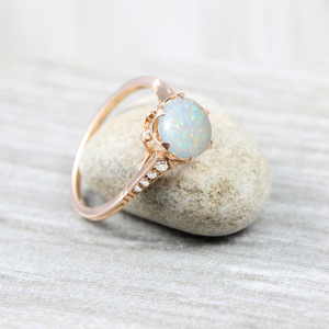 Iridescent Opal Engagement Ring