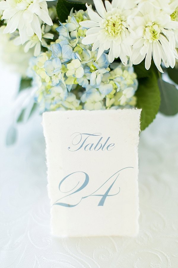 Rough edged table number
