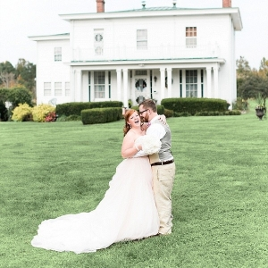 Pretty Virginia plantation wedding