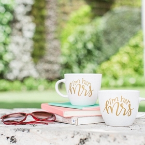 Mugs for two brides