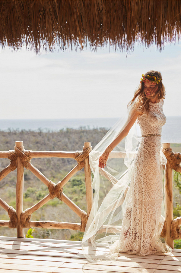 Romantic BHLDN dress