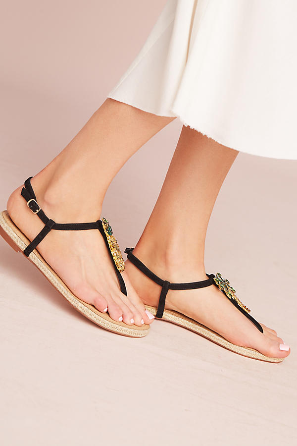 Pineapple Palm Honeymoon Sandals