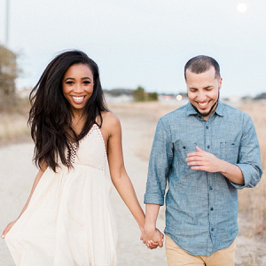 Romantic engagement session on beach