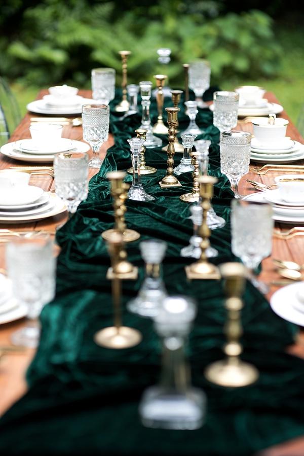 Dark Emerald Green Table Runner