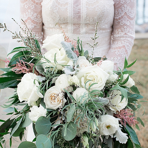 Overflowing Wedding Bouquet