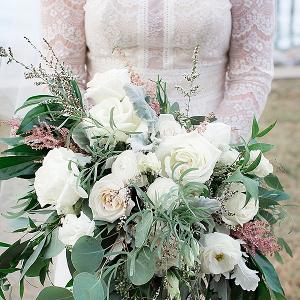 Overflowing Wedding Bouquet