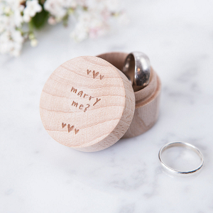 Wooden Proposal Ring Box