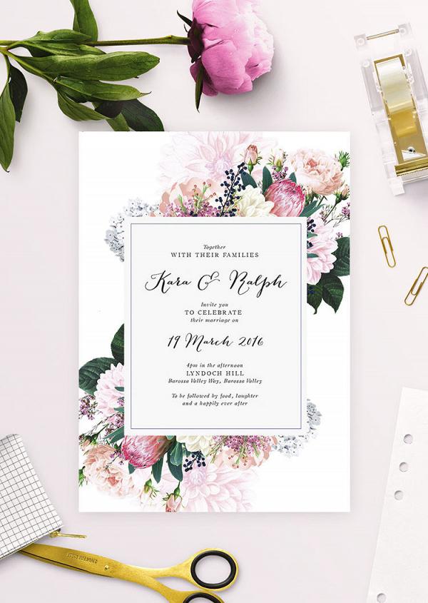 Protea Wedding Invite