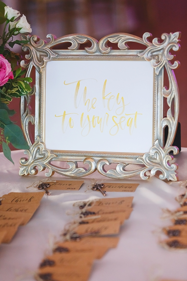 The Key to Seat wedding sign
