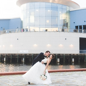 Downtown Norfolk Virginia wedding