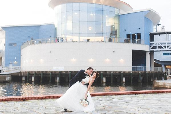 Downtown Norfolk Virginia wedding