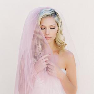 Pink Blush Bridal Veil