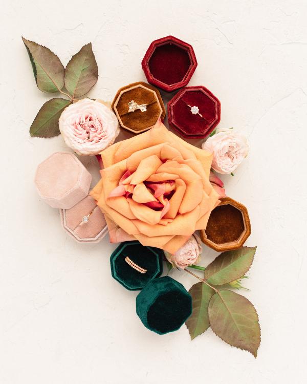 Octagonal Velvet Ring Box