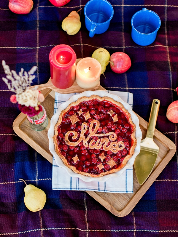 Hand Lettered Fruit Pie