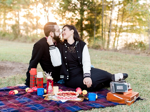 Retro Picnic Engagement Session