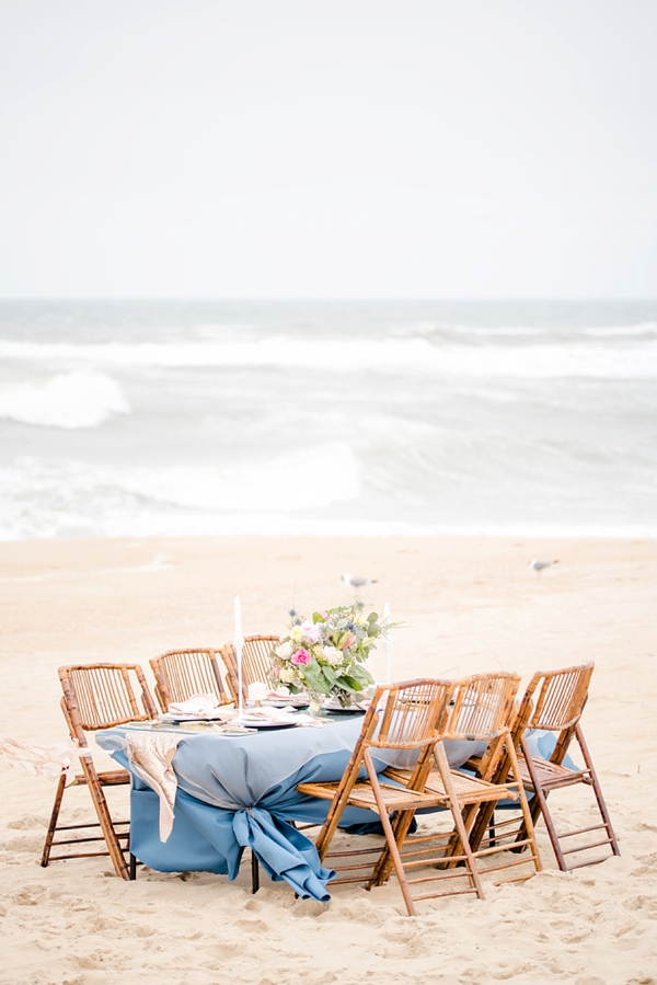 Glam beach wedding table
