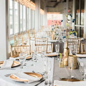 DIY gold wedding centerpieces