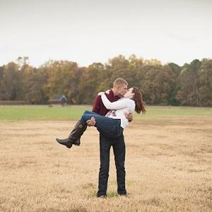 Romantic military couple