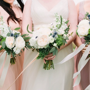 Romantic soft wedding bouquets