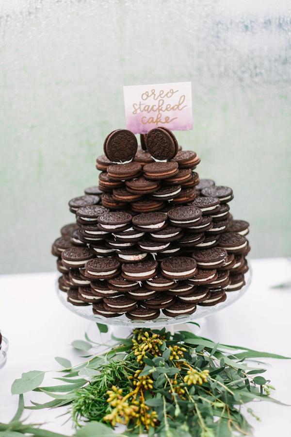 Stacked oreo wedding cake