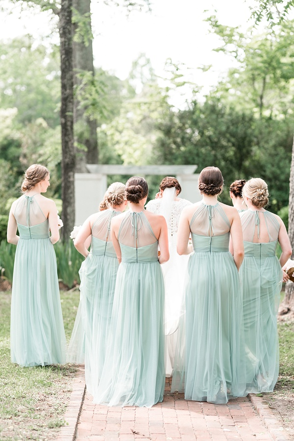 Pale mint green bridesmaid dresses