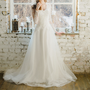 Long Sleeve Winter Wedding Dress
