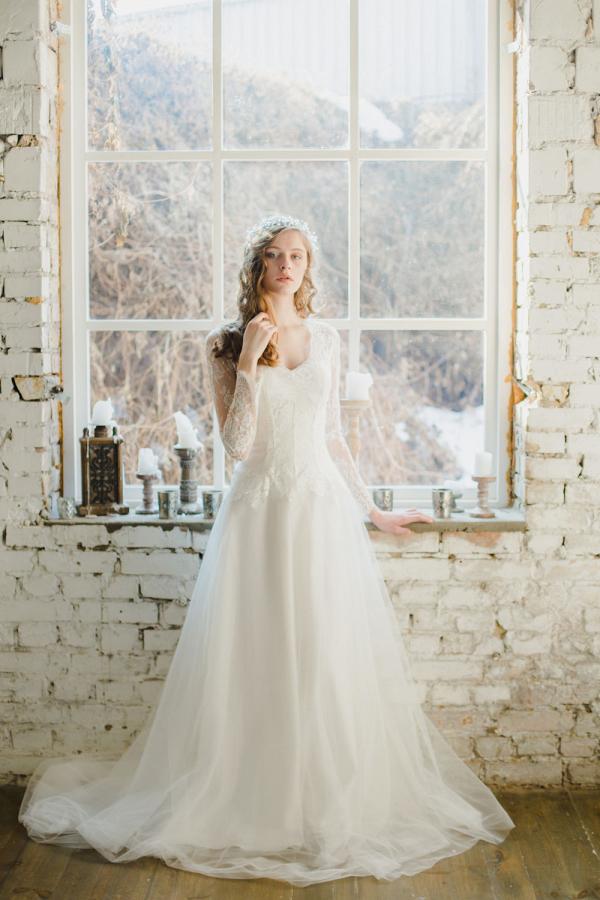 Long Sleeve Winter Wedding Dress