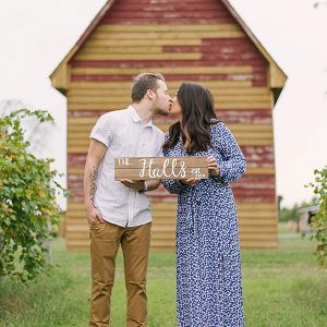 Rustic Engagement Session with Wood Sign