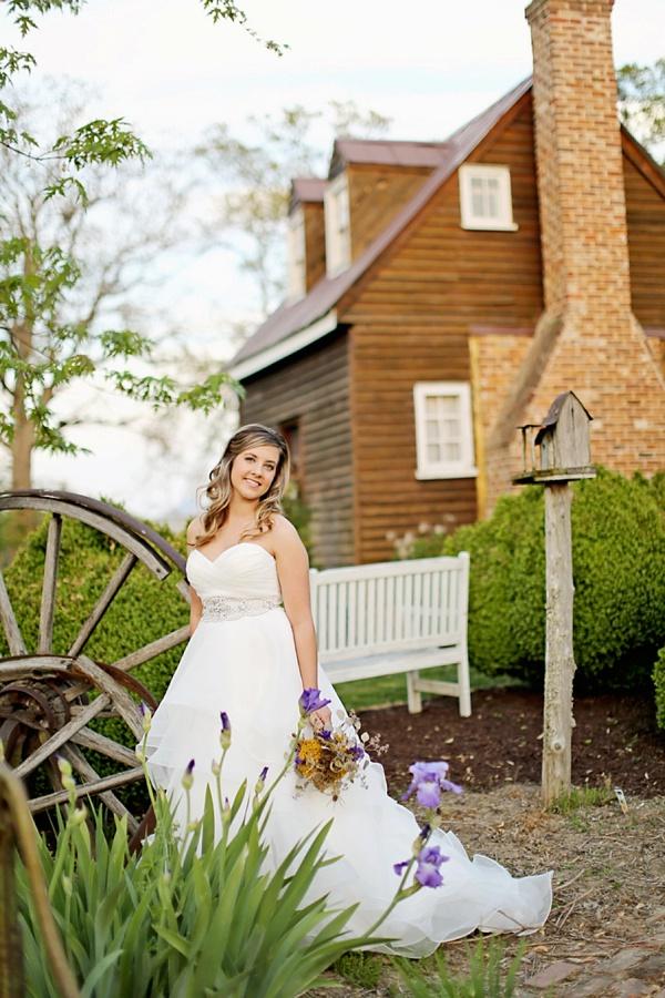 Rustic barn bride