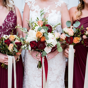 Burgundy Red Bouquets