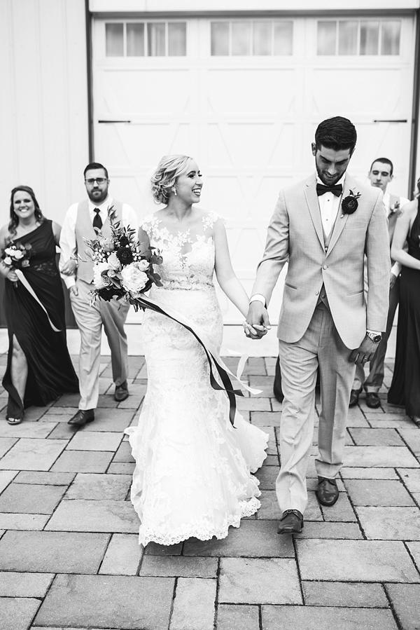 Bride and Groom Virginia Barn Wedding