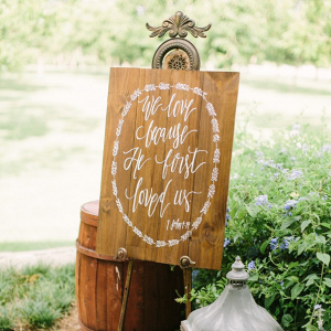 Christian Wooden Wedding Sign