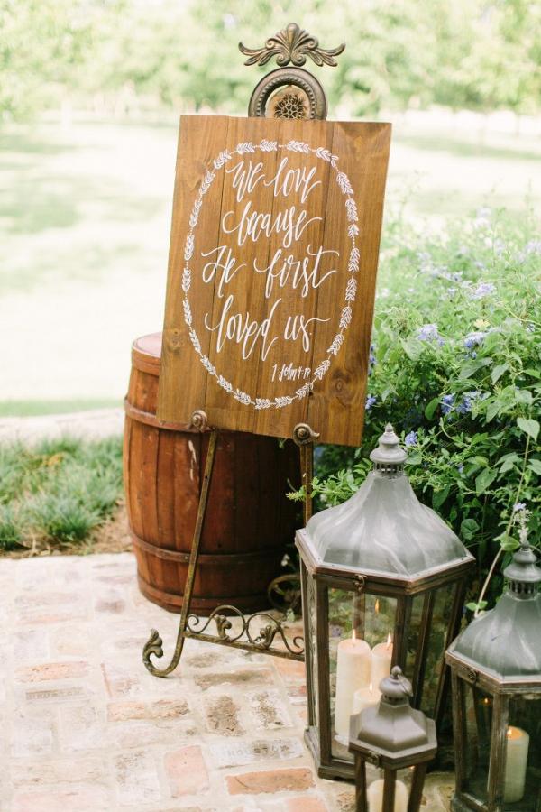 Christian Wooden Wedding Sign