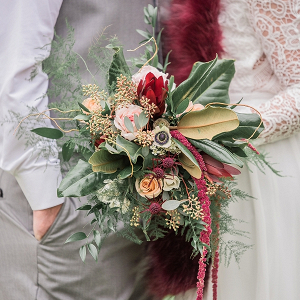 Rustic Christmas Wedding Bouquet