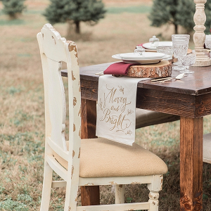 Rustic Christmas Wedding Table
