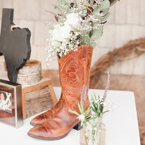 Cowboy boot with flowers