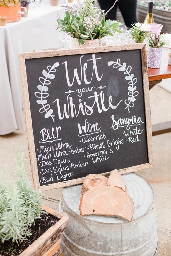 Wedding bar chalkboard sign