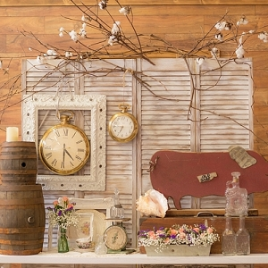 Vintage and rustic country style wedding