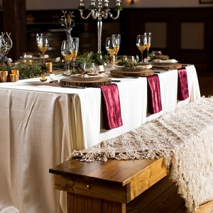 Christmas wedding rustic table