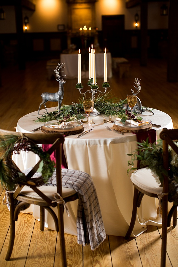 Rustic German Inspired Christmas Wedding Ideas Aisle Society