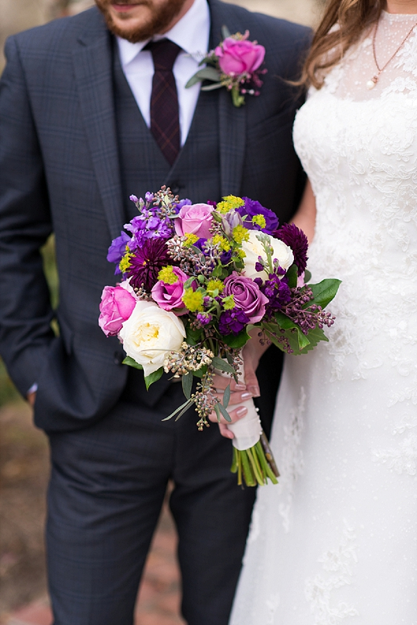 Colorful fall wedding bouquet