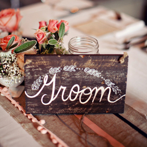 Rustic Wood Groom Chair Sign