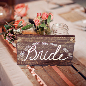 Rustic Wood Bride Chair Signs