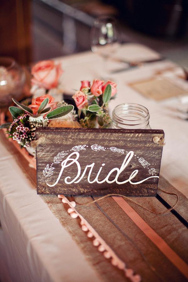 Rustic Wood Bride Chair Signs