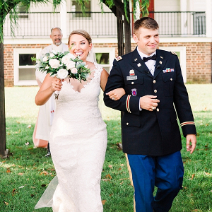Military Bride and Groom